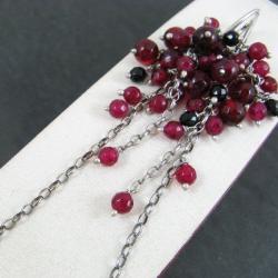 długie,rubinowe - Kolczyki - Biżuteria