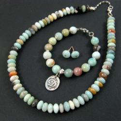 Klasyczny,z amazonitem - Komplety - Biżuteria