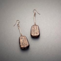 biżuteria,kolczyki,handmade,ceramika - Kolczyki - Biżuteria