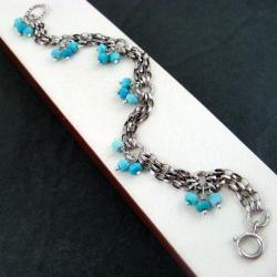 delikatna,z turkusami - Bransoletki - Biżuteria