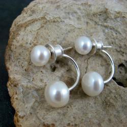 perłowe,efektowne - Kolczyki - Biżuteria