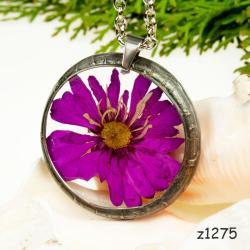 naszyjnik z kwiatem biżuteria-z-żywicy kwiaty - Naszyjniki - Biżuteria