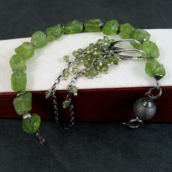 zielony,surowy - Komplety - Biżuteria