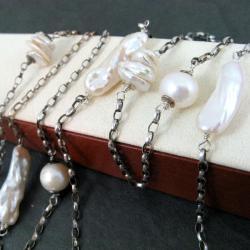 długi,niebanalny - Naszyjniki - Biżuteria