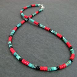 delikatny,barwny - Naszyjniki - Biżuteria
