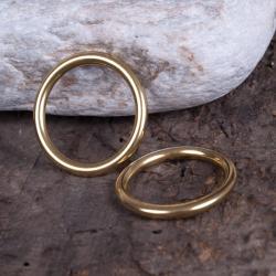 pierścionek,mosiąz,kolor złoty lekki,minimalistycz - Pierścionki - Biżuteria