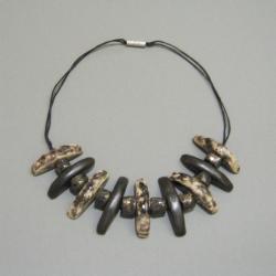biżuteria,naszyjnik,handmade,ceramika - Naszyjniki - Biżuteria