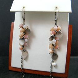 długie,różowe - Kolczyki - Biżuteria