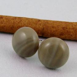 krzemień pasiasty,klasyczne,do biura,codzienne - Kolczyki - Biżuteria