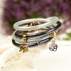 bransoletka srebrzysta,glamour,na imprezę - Bransoletki - Biżuteria