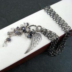 delikatna,skrzydło,gronko - Bransoletki - Biżuteria