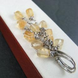 delikatne,lekie,z cytynem - Kolczyki - Biżuteria