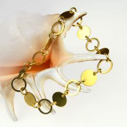bransoletka,złocista,kolor złoty,modowa - Bransoletki - Biżuteria
