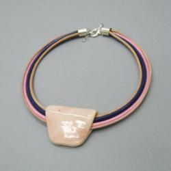 naszyjnik,ceramika,handmade,nowoczesny - Naszyjniki - Biżuteria