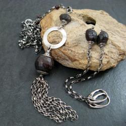 surowy,z branatu - Komplety - Biżuteria