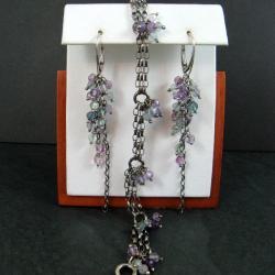 barwny,delikatny,fluoryt - Komplety - Biżuteria