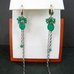 długie,grona,zielone - Kolczyki - Biżuteria