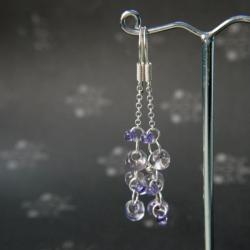 kolczyki w odcieniu fioletu,kolczyki wiszące - Kolczyki - Biżuteria