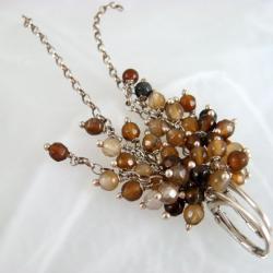 delikatne,lekkie,agat,grona - Kolczyki - Biżuteria