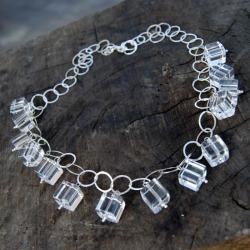 naszyjnik srebrny z kryształem górskim - Naszyjniki - Biżuteria