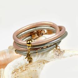 bransoletka na wieczór,złoty rzemień,bransoletka - Bransoletki - Biżuteria