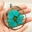 Naszyjniki naszyjnik z prawdziwych kwiatów,żywica,