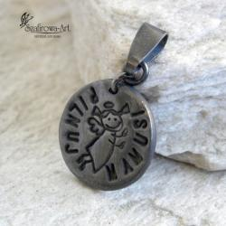 wisiorek,anioł,delikatny,prezent - Wisiory - Biżuteria