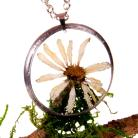 Naszyjniki kwiaty,naszyjnik,terrarium,wżywicy,resin,tiffany