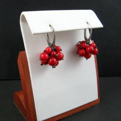 grona,lekkie,koral - Kolczyki - Biżuteria