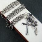 Bransoletki srebrna,z krzyżykiem