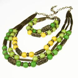 komplet na prezent,komplet biżuterii greenary - Komplety - Biżuteria