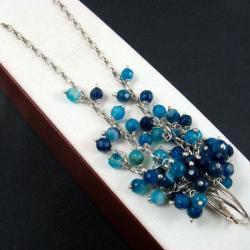 długie,niebieskie - Kolczyki - Biżuteria