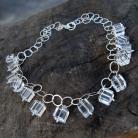 Naszyjniki naszyjnik srebrny z kryształem górskim