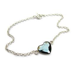 Bransoletka z kryształowym sercem - Bransoletki - Biżuteria