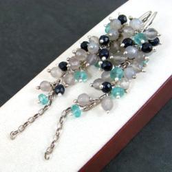 długie,grona,lśniące - Kolczyki - Biżuteria