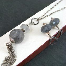 klasyczny,szary - Komplety - Biżuteria