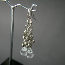 kolczyki srebrne,kolczyki wiszące,z zawieszkami - Kolczyki - Biżuteria