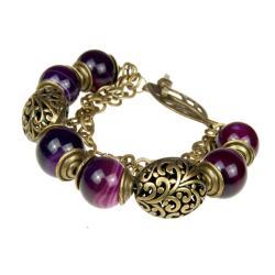 Bransoleta z fioletowych agatów,ARTSEKO - Bransoletki - Biżuteria
