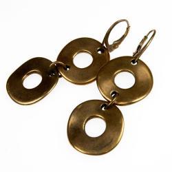kolczyki,koła,kolor złota,nowoczesne,boho - Kolczyki - Biżuteria