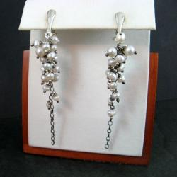 długie,perłowe - Klipsy - Biżuteria