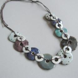 naszyjnik,ceramika,metal,nowoczesny - Naszyjniki - Biżuteria