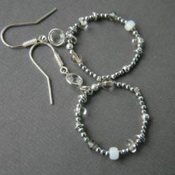 kolczyki srebrne,kolczyki wiszące,kolczyki koła - Kolczyki - Biżuteria