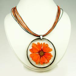 HERBARIUM,naszyjnik z kwiatów,biżuteria z żywicy - Naszyjniki - Biżuteria