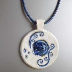 biżuteria,wisior,handmade,ceramika,unikatowy - Wisiory - Biżuteria