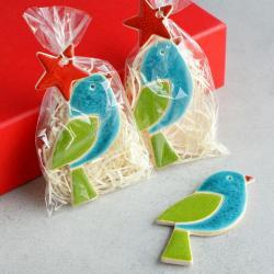 ptaszek,magnes,święta,upominek - Ceramika i szkło - Wyposażenie wnętrz