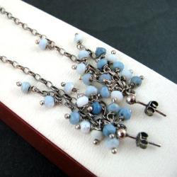 subtelne,niebieskie - Kolczyki - Biżuteria