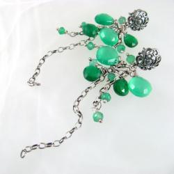 zielone,długie,lśniące - Kolczyki - Biżuteria