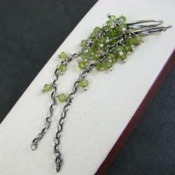 długie,zielone grona - Kolczyki - Biżuteria
