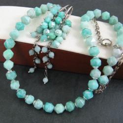 delikatny,pastelowy,amazonit - Komplety - Biżuteria