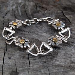 bransoletka kwiaty,bransoletka na co dzień artseko - Bransoletki - Biżuteria